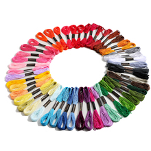 Jiwuo 50 Colors Cross stitch thread Embroidery Thread Floss Sewing Skeins Women Craft DIY Bracelet braided Kniting Sewing Tools jiwuo 100 color embroidery floss cross stitch cotton bamboo embroidery thread sewing skeins floss hoop kit sewing craft tool