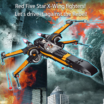 Poe's X-wing Fighter Starwars Compatible lepining Building Blocks Bricks Fighter Assembled Fighter Star Wars X Wing Toys фото