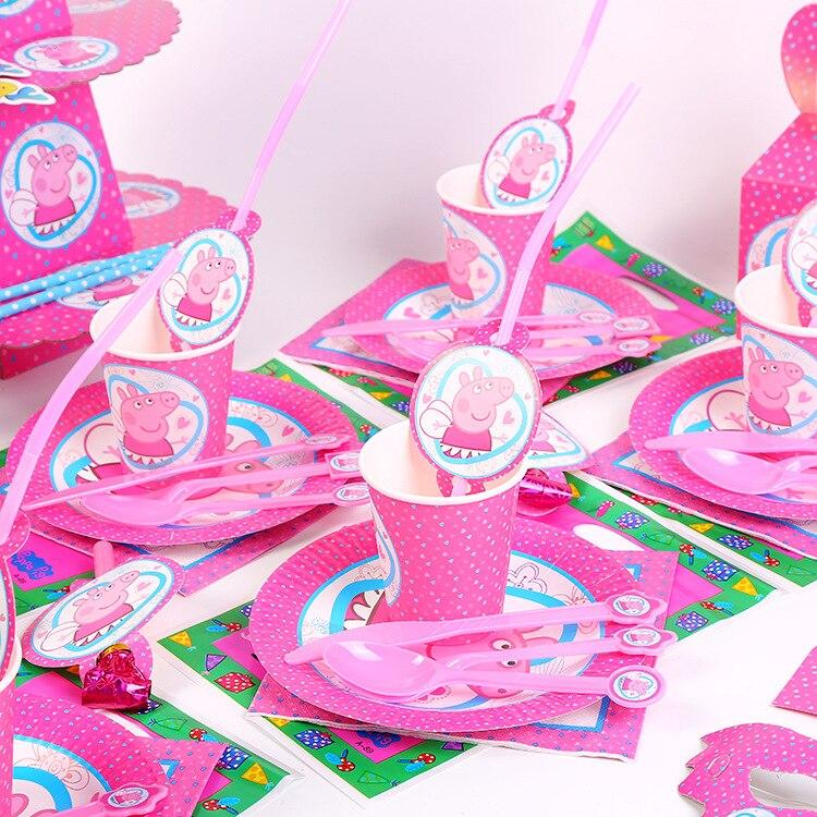 Со Свинкой Пеппой; Вечерние свадебные украшения поставки детского дня рождения вечерние праздничные украшения посуда реквизит скатерть крытого украшения|Украшения своими руками для вечеринки|   | АлиЭкспресс