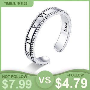 Женское кольцо с открытым размером WOSTU, кольцо из стерлингового серебра 925 пробы с римским номером, модное серебряное ювелирное изделие, CQR658