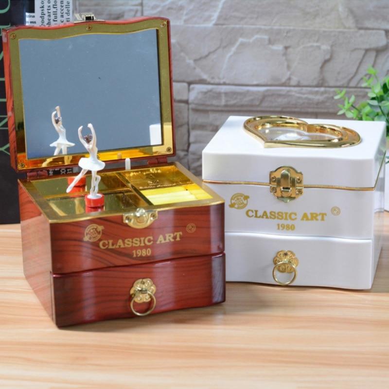 Music Box Birthday Gift For Girl Ballerina Jewelry Box Mirror Play Birthday For Kids Accessories