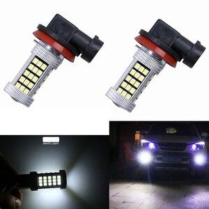 Image 3 - 2x projecteur pour voiture, ampoule H4 H7 H8/11 9005/HB3 9006/HB4 Auto 2835 66SMD, lumière, lampe de conduite DRL, accessoires blanc 12V, partie