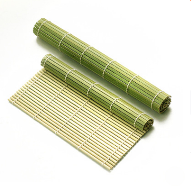 Green Sushi Rolling Roller Bamboo DIY Sushi Mat Onigiri Rice Roller Hand Maker Sushi Tools Japanese Food Beto Accessories image