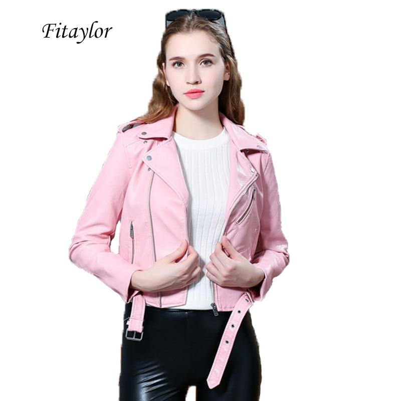 Rrive Womens Oblique Zipper Biker Moto Faux Pu Leather Casual Jacket Coat