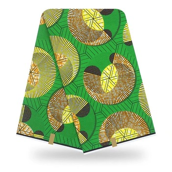 Veritable Cotton Fabrics African Wax Print Fabric 6 Yards Real Dutch Ankara Fabric High Quality Wedding Dress Material VS14-94