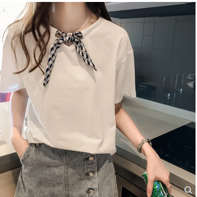 Loose size New Summer T Shirt Women White Elasticity Woman Clothes Oversize Tops New Tshirt Maxi Female Short Sleeve Tee White 2