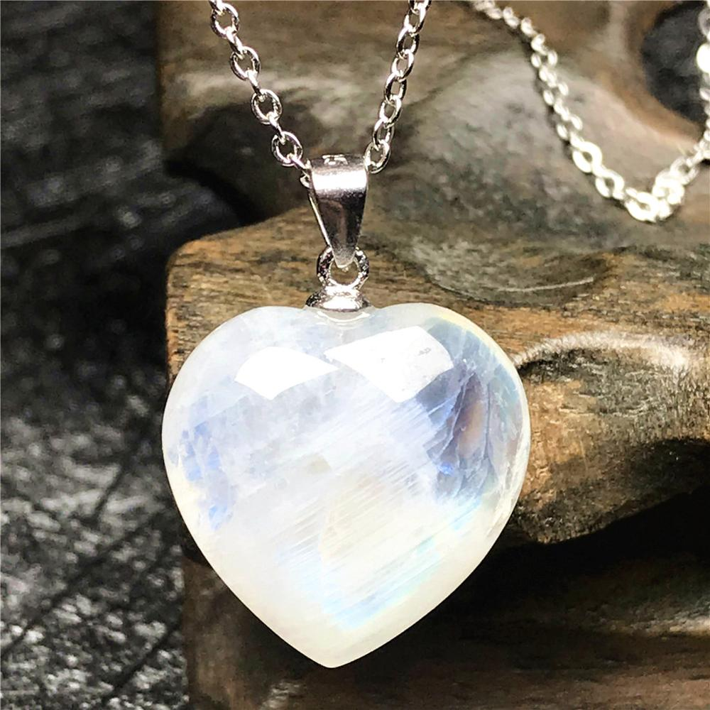 Pendant Necklace Natural Blue Aquamarine Jewelry For Woman Man 21x13x9mm Beads Ocean Crystal Stone 925 Silver Chains