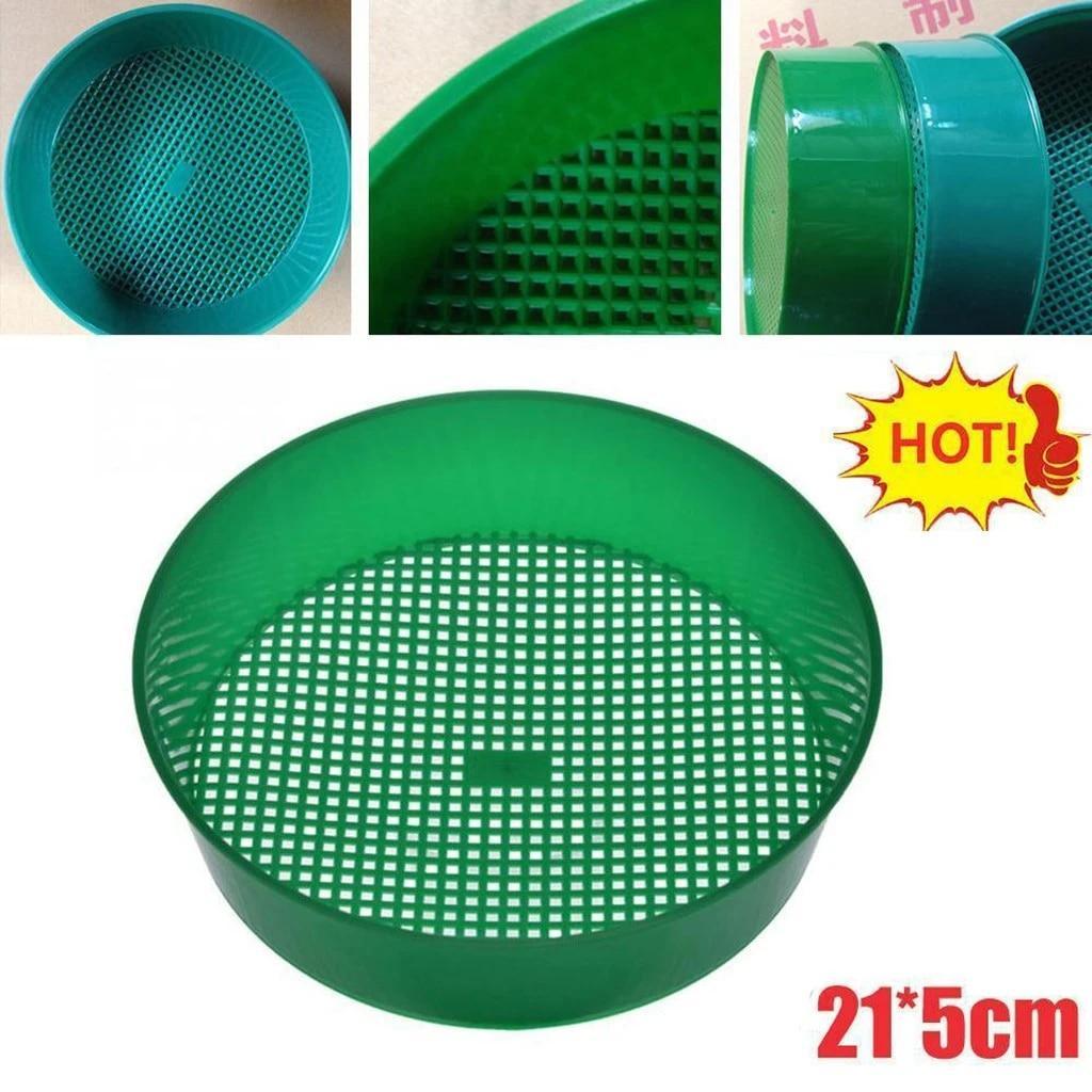 5cm Garden Sieve Plastic Riddle Green for Composy Soil Stone Mesh Gardening Tool Garden Care 21