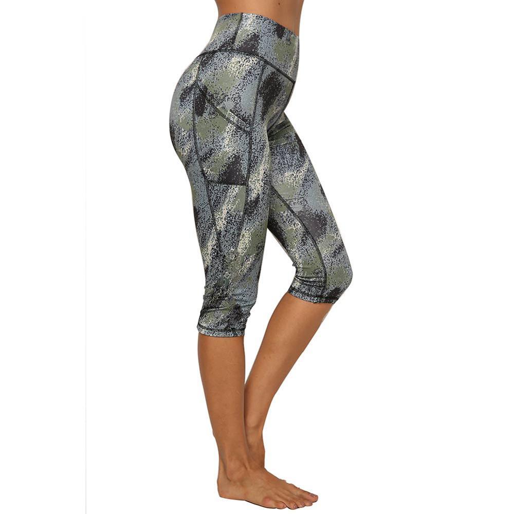 JGS1996 Womens High Waisted Yoga Capri Leggings Workout Leggings with Pockets Sports Running Fitness Pants