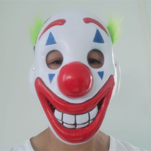 New Joker Clown Mask Costume Cosplay Halloween For Adult Props Suit