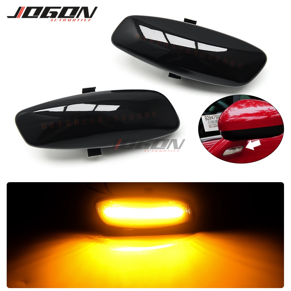 Luz LED de posición de luz de posición secuencial con espejo lateral dinámico para Peugeot 207 308 3008 5008 RCZ para Citroen C3 C4 C5 DS3 DS4