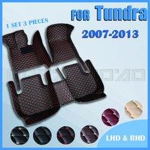 Esteiras do assoalho do carro para Toyota Tundra 2007 2008 2009 2010 2011 2012 2013 Personalizado auto Almofadas do pé tampa tapete automóvel