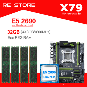 Image 1 - Kllisre X79 di serie della scheda madre con Xeon E5 2690 4x8GB = 32GB 1600MHz DDR3 ECC REG di memoria
