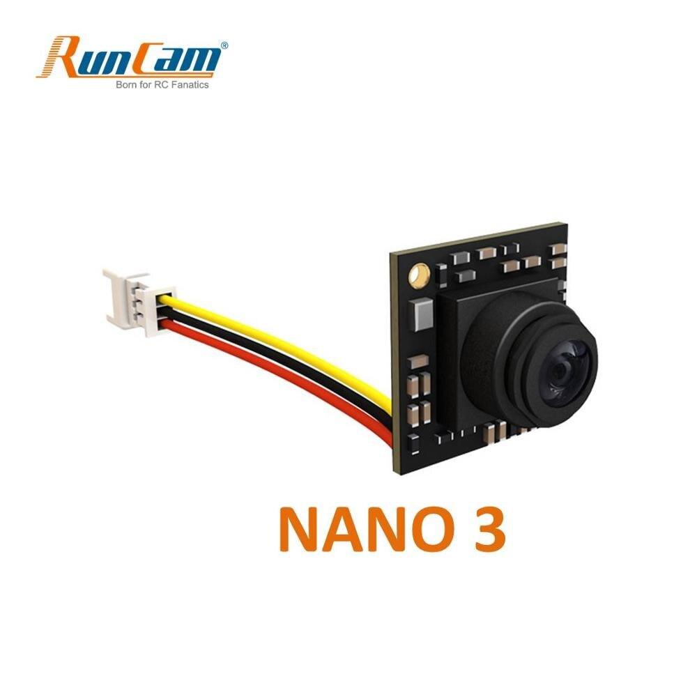 RunCam Nano 3 1/3'' 800TVL 1.1g Ultra Light FOV 160 Degree Wide Angle NTSC CMOS FPV Camera For RC FPV Racing Drone Toothpic