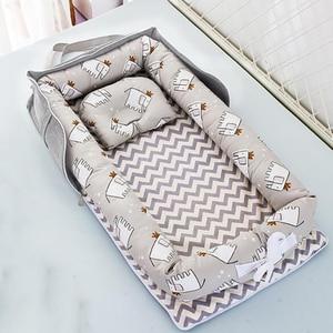 Baby Crib Portable Crib Foldable Newborn Sleeping Bed Cushion Cotton Nest Baby Bedding Basket Bumpers YHM030