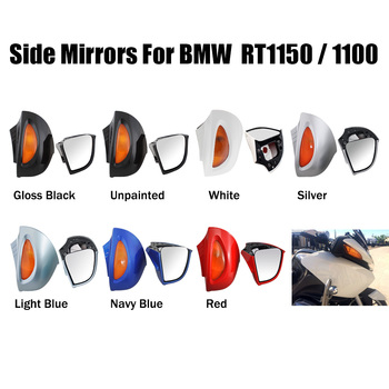 Motorcycle Rear View Rearview Side Mirror Amber Signal Lens Fairing Mount For BMW R 1100RT R1100RTP R 1150RT image