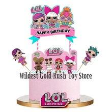 24 piezas LOL sorpresa muñecas pastel tarjeta fruta plug-in niños cumpleaños fiesta suministros Plugin lol sorpresa cumpleaños Juguetes conjunto de 10CM