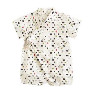 От 0 до 3 лет Одежда для новорожденных платье-кимоно, одежда для сна для маленьких девочек, детские костюмы для мальчиков, комбинезон с короткими рукавами и с принтом героев мультфильмов из халат с принтом; Летнее милое платье для малышей с перекрестной шнуровкой кимоно