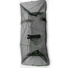 2019 New Fishing Eupments Outdoor Foldable Portable Cylindrical Net Crayfish Pot Tackle
