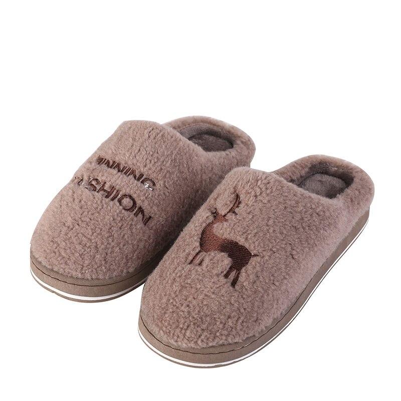 Зимние теплые домашние женские меховые тапочки, милые дизайнерские домашние тапочки с рождественским оленем и животными, Мультяшные женские тапочки, мягкая обувь для пар, 2020|Тапочки| | АлиЭкспресс