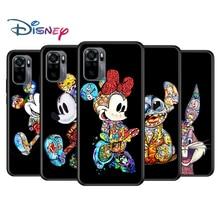 Mickey Tattoo Cartoon for Xiaomi Redmi Note 10 10S 9 9T 9S 9Pro Max 8T 8Pro 8 7 6 5 Pro 5A 4X 4 Soft Black Phone Case