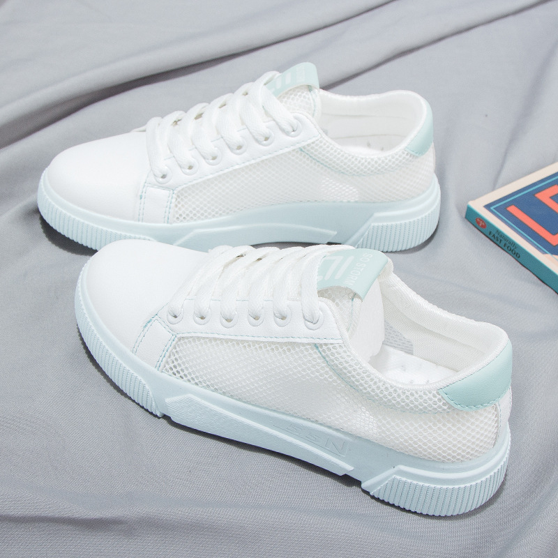 Nouvelle version coréenne de l'été 2019 des chaussures blanches d'étudiants sauvages