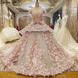 Image 5 - Roze Bloem Baljurk Trouwjurk Bruidsjurk Robe De Mariage Mariee Princesa Trouwjurken 2020 Real Photo HA2043
