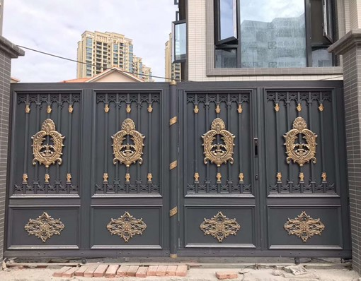 China Elegant Indonesia Gate Design Swing Gate With Opener Motor