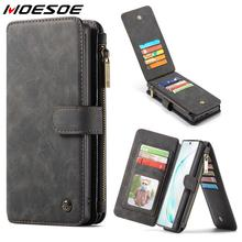 Magnetic Zipper Wallet Cases For Samsung Galaxy Note 8 9 10 S8 S9 Plus S10e S10 5G Multi Card Slots Leather Stand Flip Cover