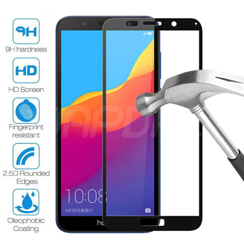 99D Protective Glass on the For Huawei Honor 7A 7C 7X 7S Tempered Screen Protector Honor 8 Lite 8X 8A 8C 8S 9X Glass Film Case(China)