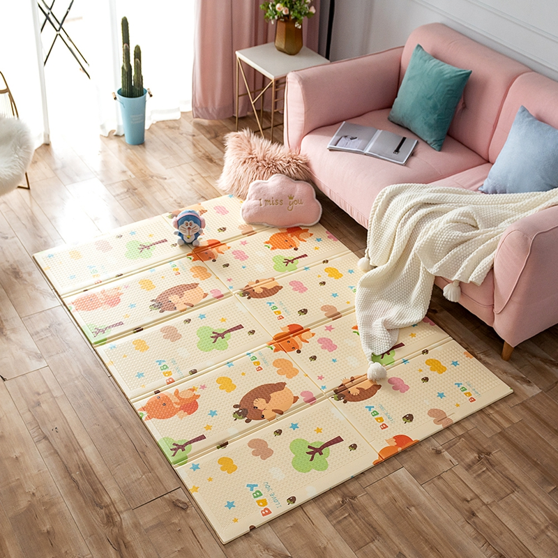 Tapis de route XPE pour enfants enfants grand tapis rampant épaissi tapis de mousse de bébé Puzzle tapis imperméable pliable Pad couverture de jeu - 2
