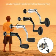 Lixada Fishing Reel Handle Aluminum Alloy Rotary Knob Foldable Power Handle for Spinning Reel Replacement Handle Nonslip Grip orange nonslip plastic grip 3 1 4 mini paint roller handle frame