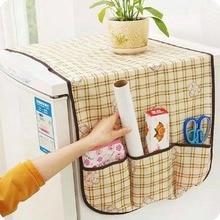 Hanging-Bag Refrigerator Dust-Belt Multi-Purpose Plaid Direct-Dirt-Resistant Simple
