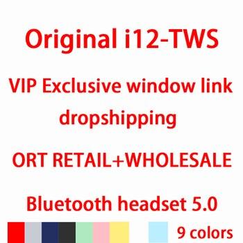 I12 tws Original sans fil écouteurs Bluetooth 5.0 casque casque Pop-up écouteurs écouteurs pour xiaomi huawei téléphone boîte de charge