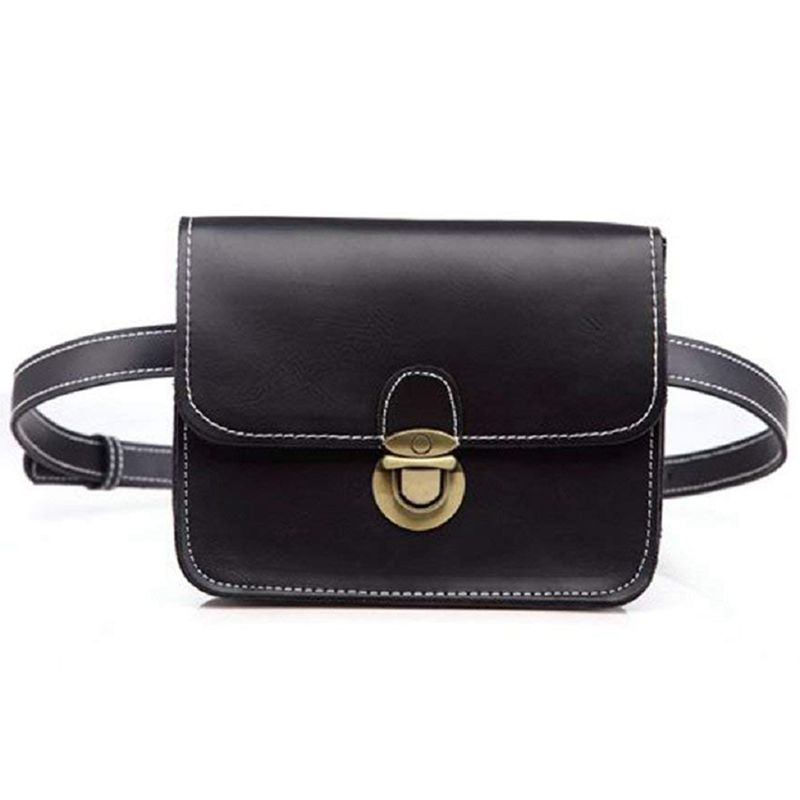 NEW-Fashion Solid Fanny Bag Female Adjusted Belt Bag Ladies Casual Waist Pack(Black )