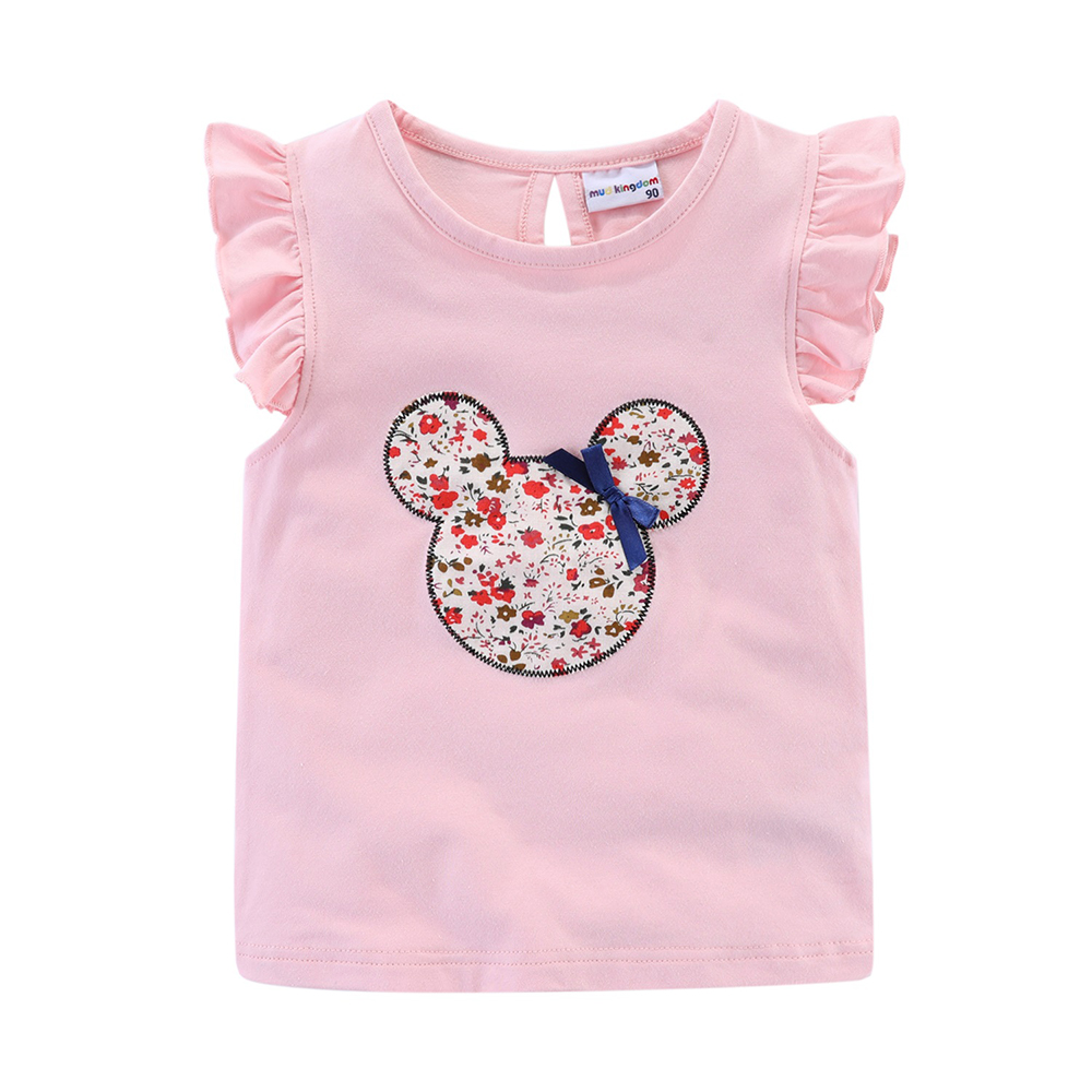Mudkingdom Cute Girls Clothes Sets Floral 2Pcs Cartoon Kids Ruffle Sleeve Tank Top and Skirt Outfits Adorable 4