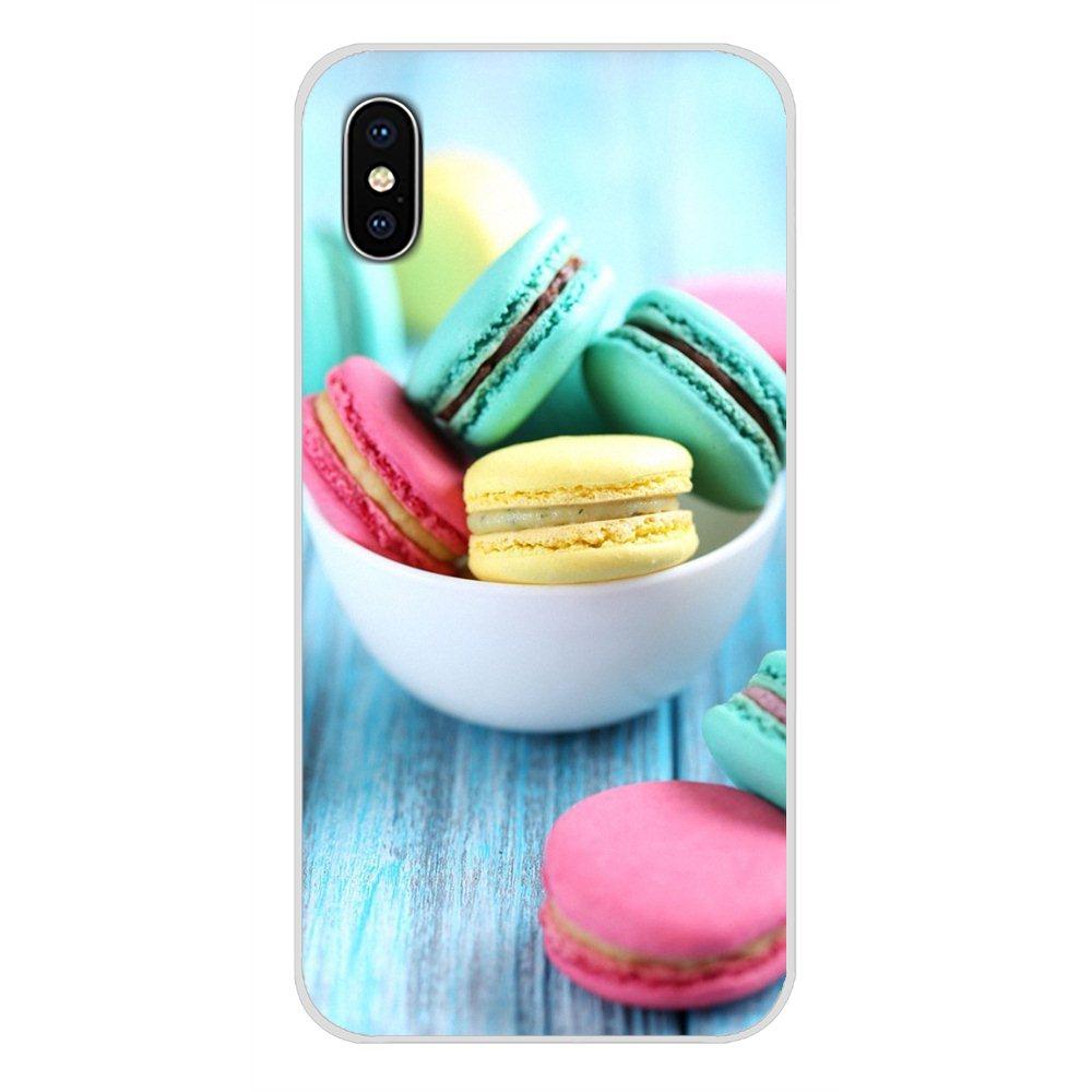 Dessert Pizza Donuts Macaron Food Phone Case Cover For Huawei Nova 2 3 2i 3i Y6 Y7 Y9 Prime Pro GR3 GR5 2017 2018 2019 Y5II Y6II