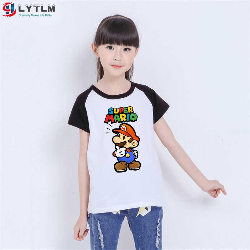 Camiseta LYTLM para niños pequeños, camiseta para niños y niñas, camiseta de Super Mario, ropa de verano para niño niña, camisetas de chicos Mario Bros