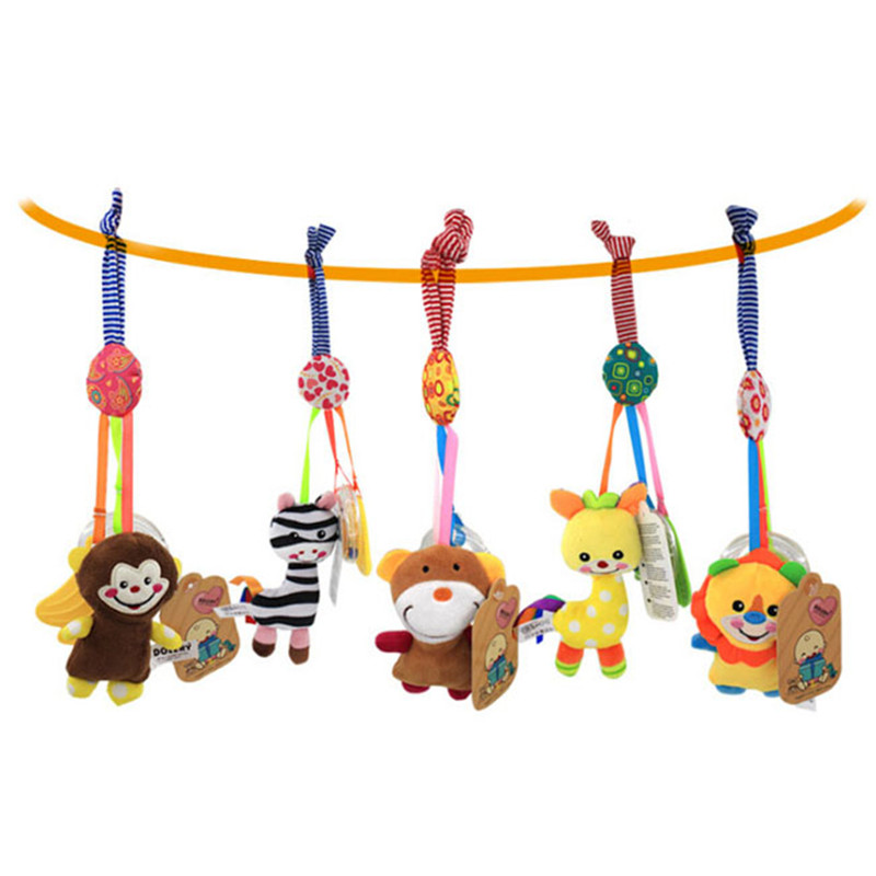 Bed Wind Chimes Rattles Bell Toy Mobile Baby Soft Plush Toy Hot Selling Infant Toys Baby Crib Bed Hanging Bells Toys
