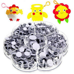 Toys Craft-Supplies Arts-Decor Scrapbooking Wiggly Art-Craft Googly-Eyes Hand Self-Adhesive