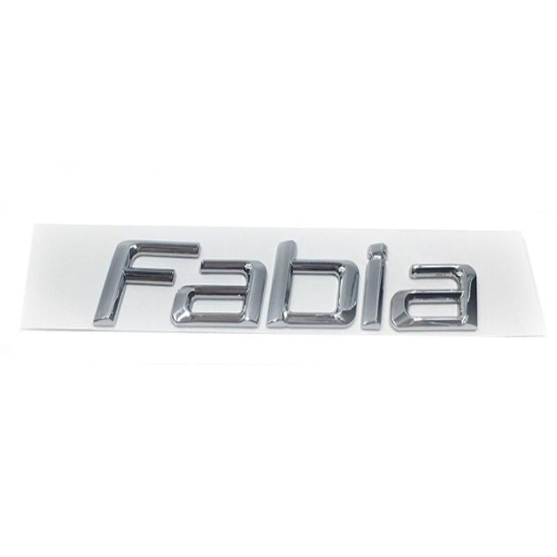 Novo 3d abs fabia fabia carro adesivo letras decalque emblema emblema cromo logotipo para skoda fabia fabia estilo do carro acessórios