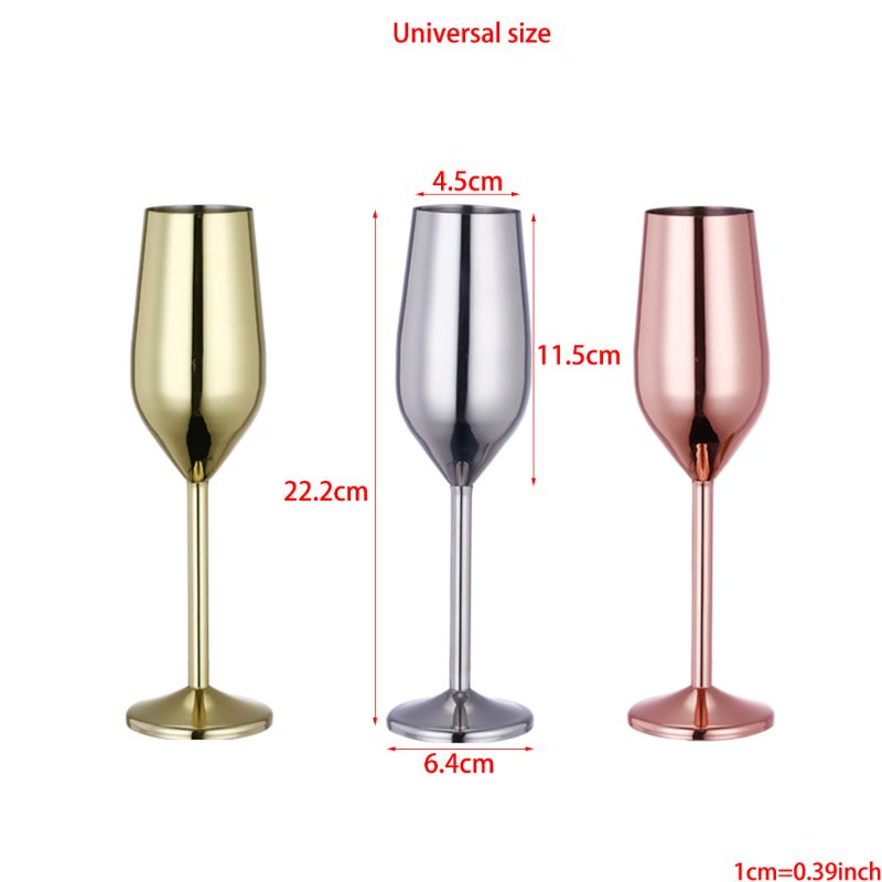 2020 New Stainless Steel Wine Glass Goblets Champagne Goblet Cocktail Glasses Whiskey Cup