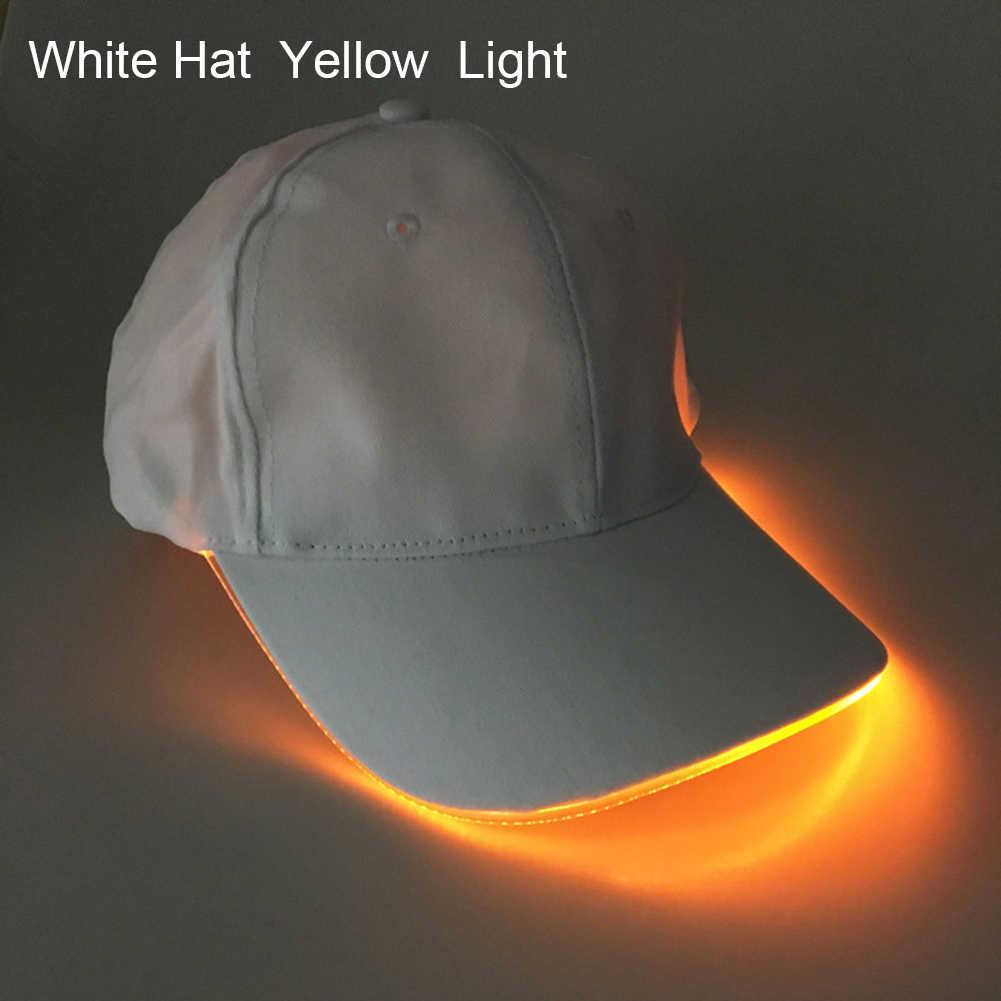 حار موضة للجنسين بلون LED مضيئة قبعات بيسبول حفلة عيد الميلاد ذروتها
