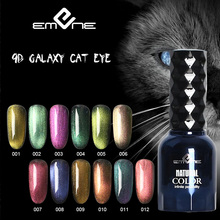 EMENE 15ml 9d cat eye gel polish chameleon magnetic uv varnish primer nail rubber base coat top for manicure nails
