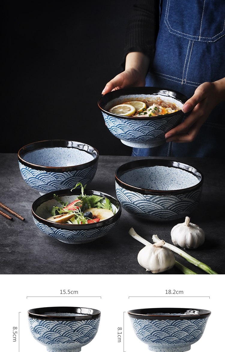 Rux Workshop Japanese Ceramic Rice Bowl Ramen Bowl Salad Noodle Soup Bowl Restaurant Kitchen Tableware Home Decoration Bowls Aliexpress