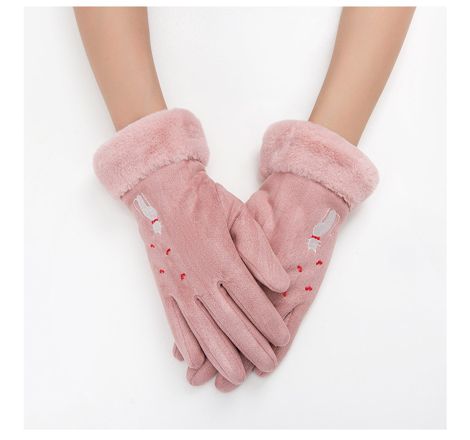 Winter Women Touch Screen Gloves with Embroidery made with a Special Conductive Fabric into Finger Tips for fast Navigation of All Touch Screen Device 14