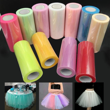 Tulle Roll Spool 25M X 15cm Organza Roll Red Blue Tulle Organza Fabric Tutu Skirt Girl Baby Shower Decor Party Supplies 5Z