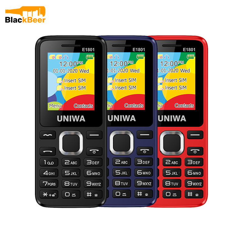 UNIWA GSM New Feature-Phone Elder E1801 Dual-Sim 800mah for Man 2G Fm-Radio Wireless