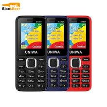 UNIWA E1801 2G GSM 1,77 дюйм функция телефон 800 мАч мобильный телефон беспроводной FM радио телефон двойной SIM двойной режим ожидания для пожилых мужчин