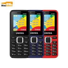 Uniwa e1801 2g gsm 1.77 Polegada característica telefone 800mah celular rádio fm sem fio telefone duplo sim standby para o homem mais velho